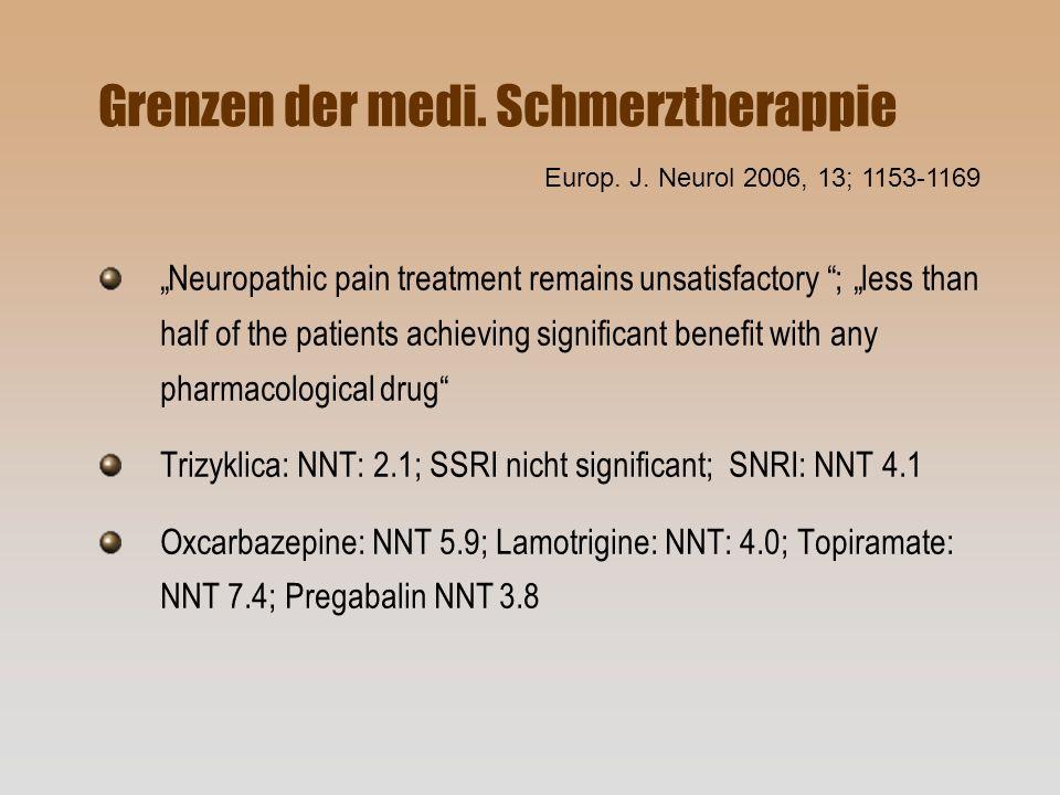 Grenzen der medi. Schmerztherappie