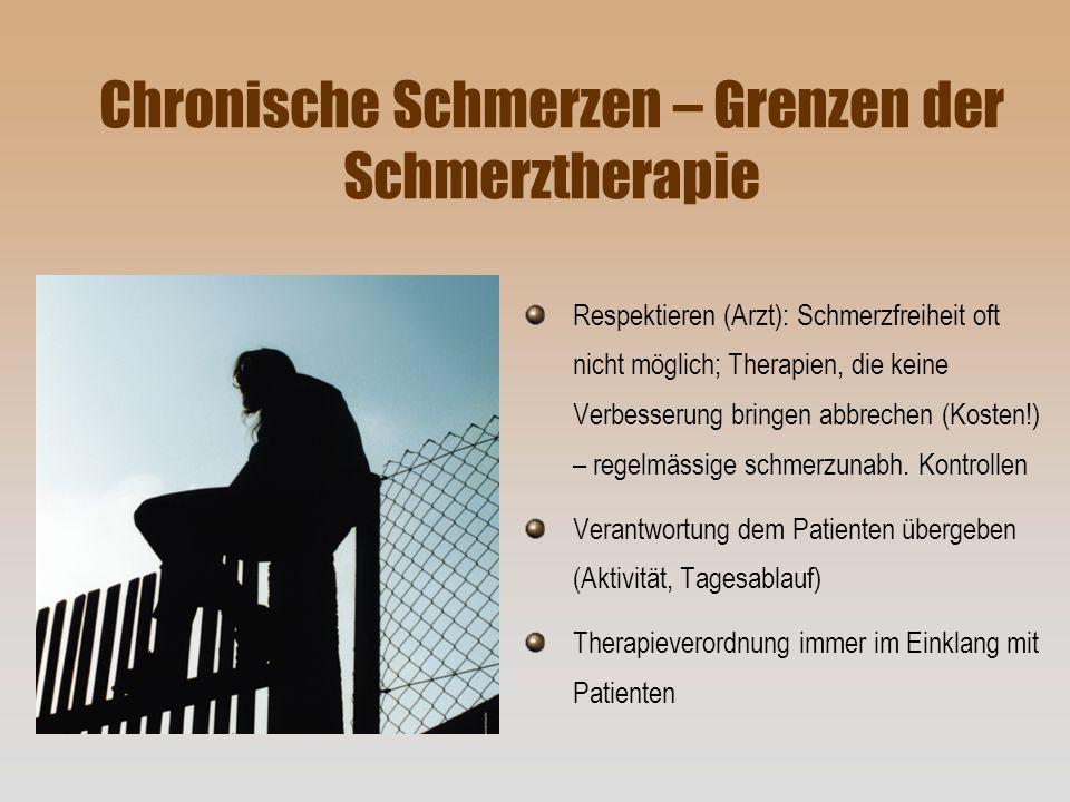 Chronische Schmerzen – Grenzen der Schmerztherapie