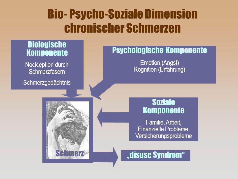 Bio- Psycho-Soziale Dimension chronischer Schmerzen
