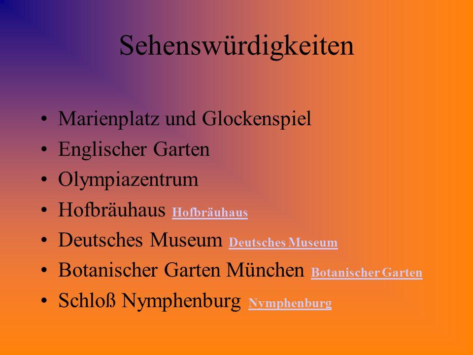 Sehenswürdigkeiten Marienplatz und Glockenspiel Englischer Garten