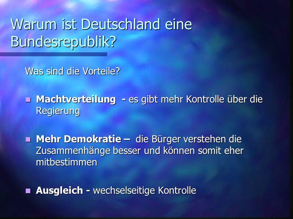 Warum ist Deutschland eine Bundesrepublik