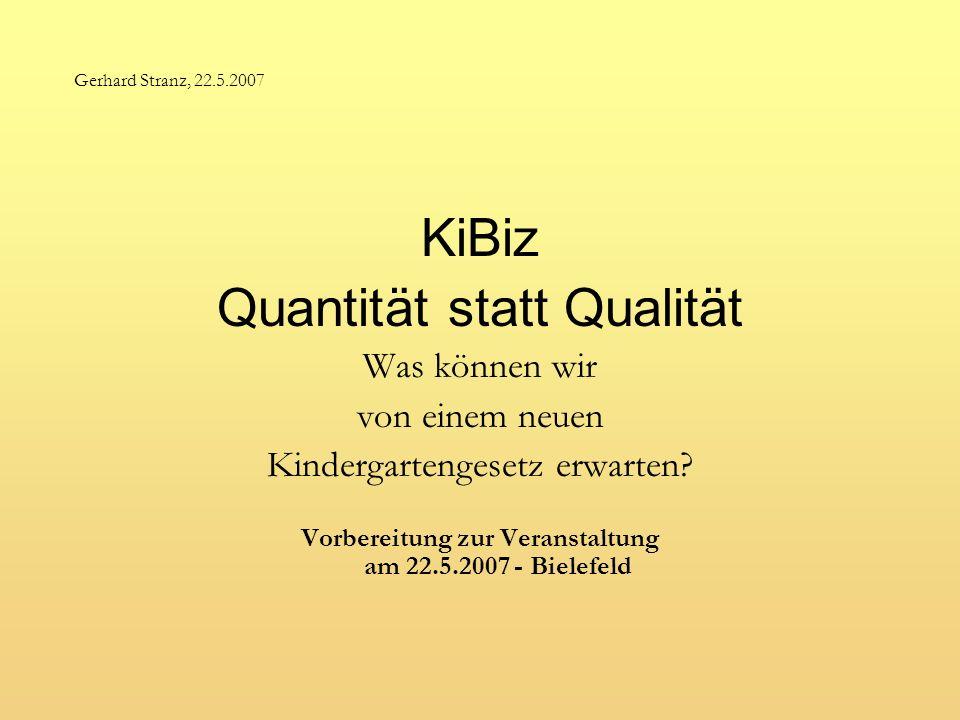 Vorbereitung zur Veranstaltung am 22.5.2007 - Bielefeld