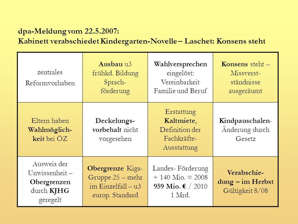Kabinett verabschiedet Kindergarten-Novelle – Laschet: Konsens steht