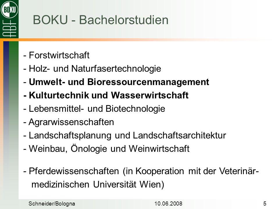 BOKU - Bachelorstudien