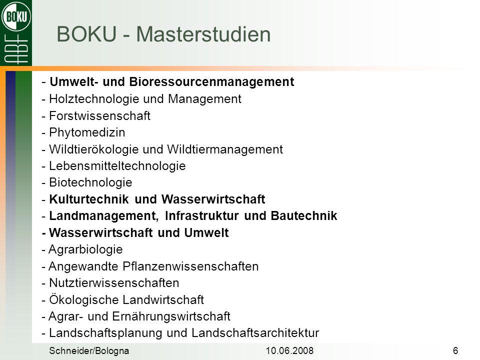 BOKU - Masterstudien - Umwelt- und Bioressourcenmanagement