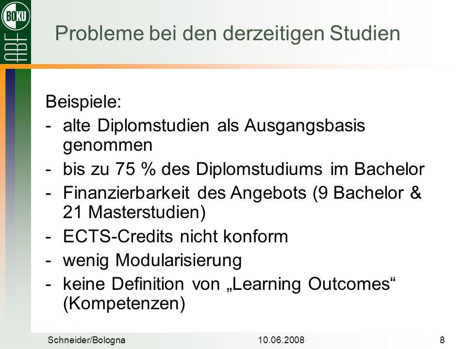 Probleme bei den derzeitigen Studien