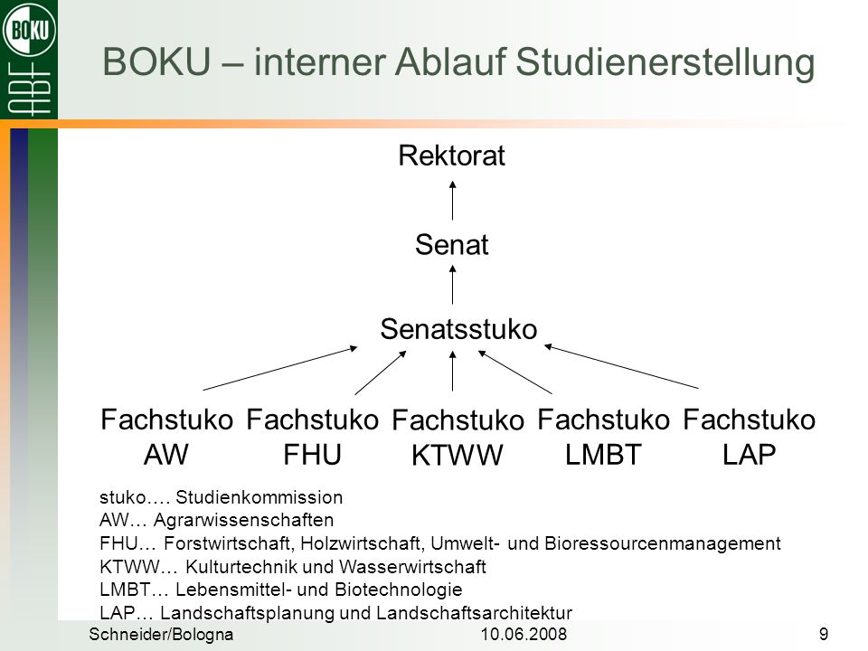 BOKU – interner Ablauf Studienerstellung