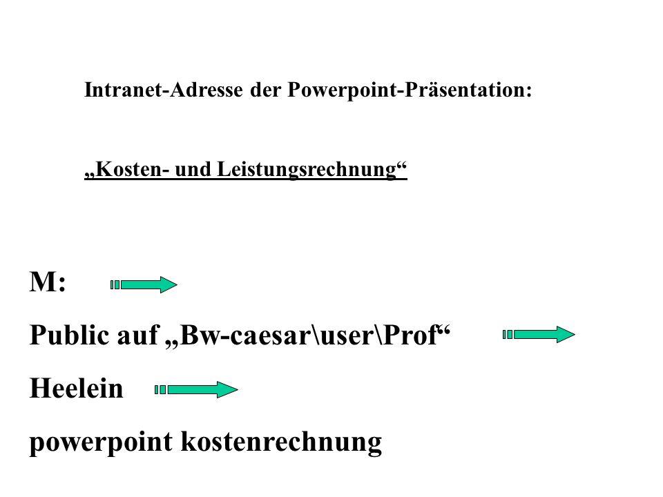 """Public auf """"Bw-caesar\user\Prof Heelein powerpoint kostenrechnung"""