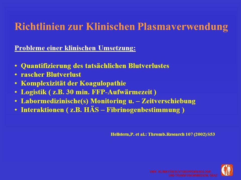 Richtlinien zur Klinischen Plasmaverwendung
