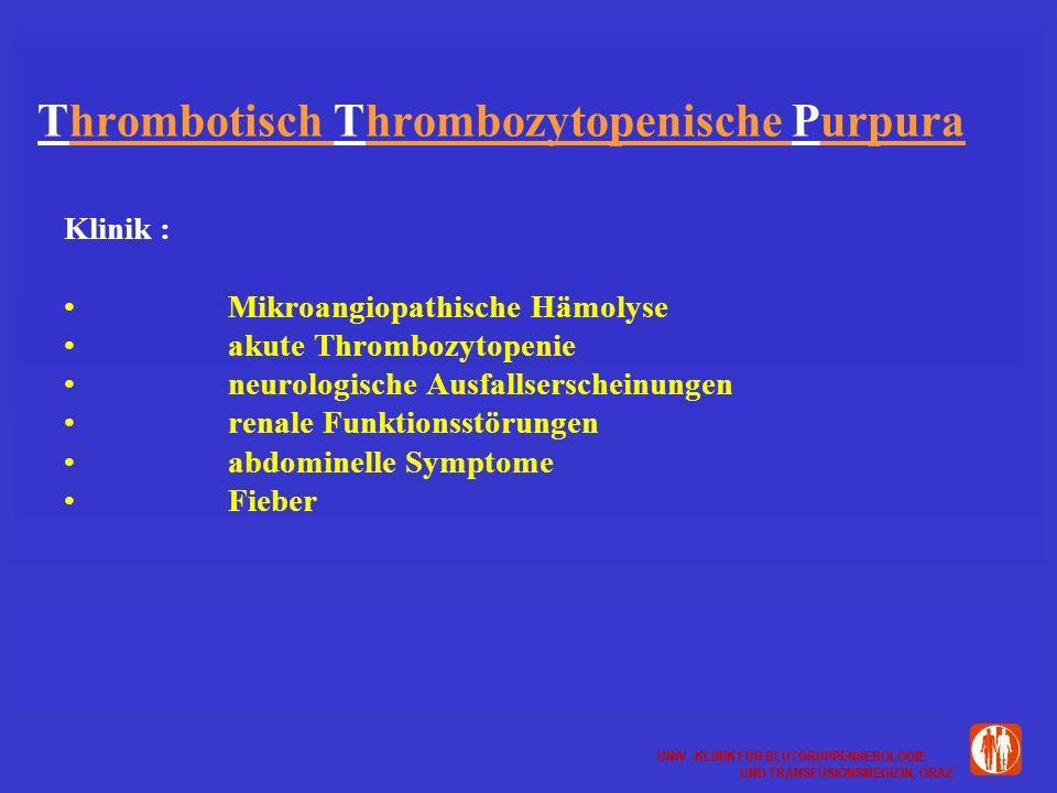Thrombotisch Thrombozytopenische Purpura