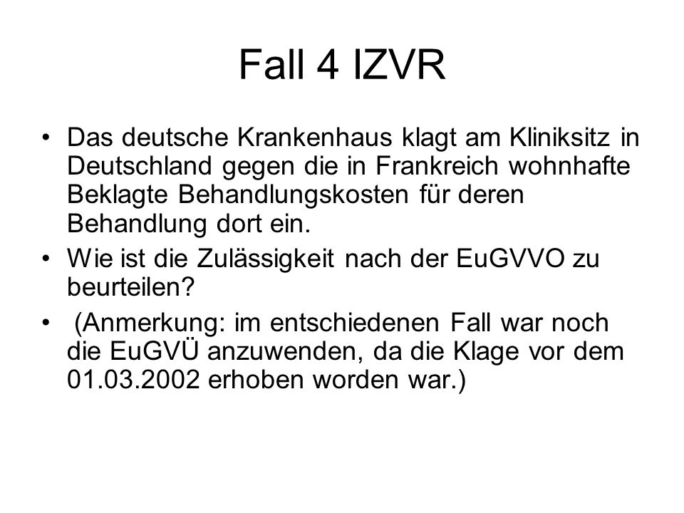 Fall 4 IZVR