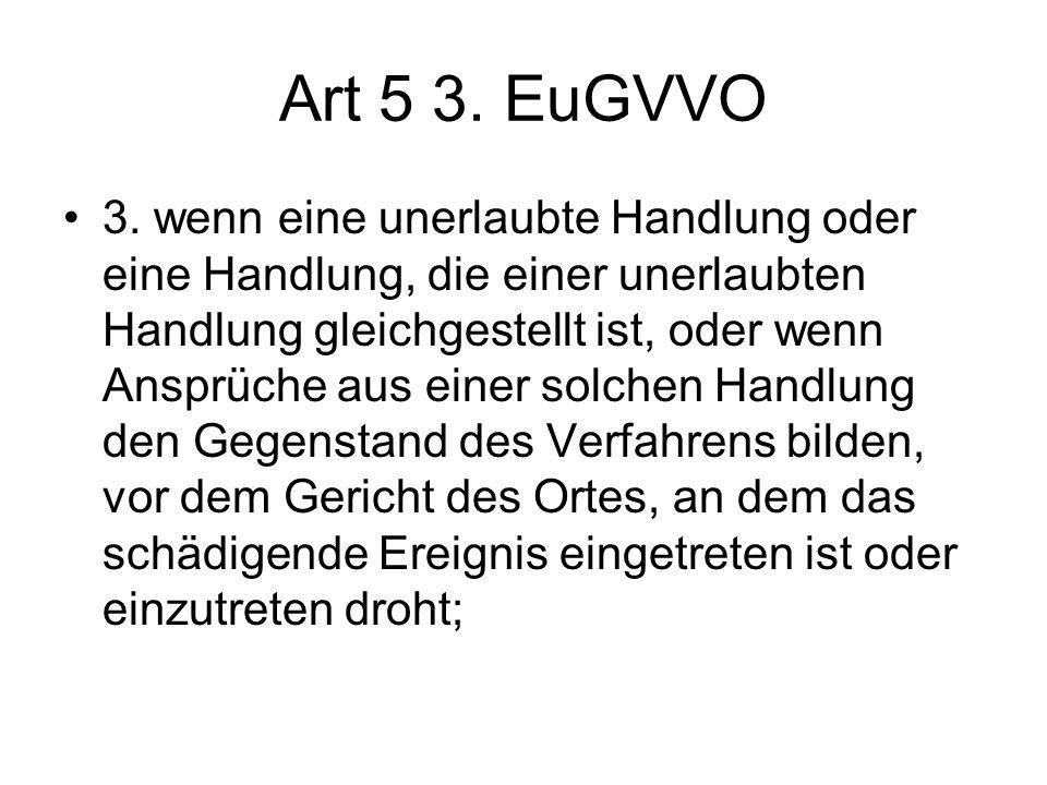 Art 5 3. EuGVVO