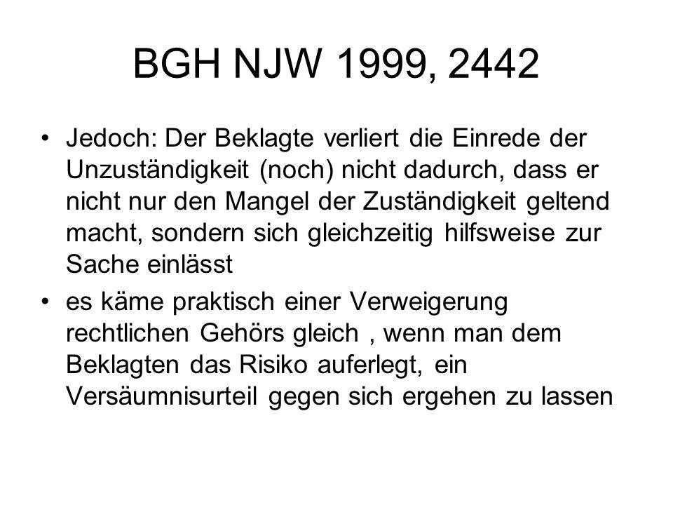 BGH NJW 1999, 2442
