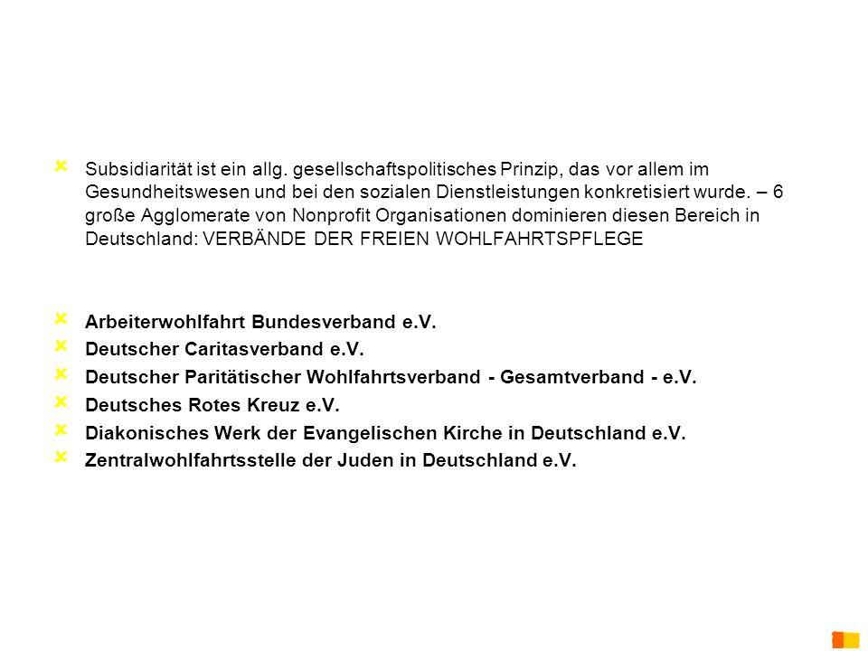 Arbeiterwohlfahrt Bundesverband e.V. Deutscher Caritasverband e.V.