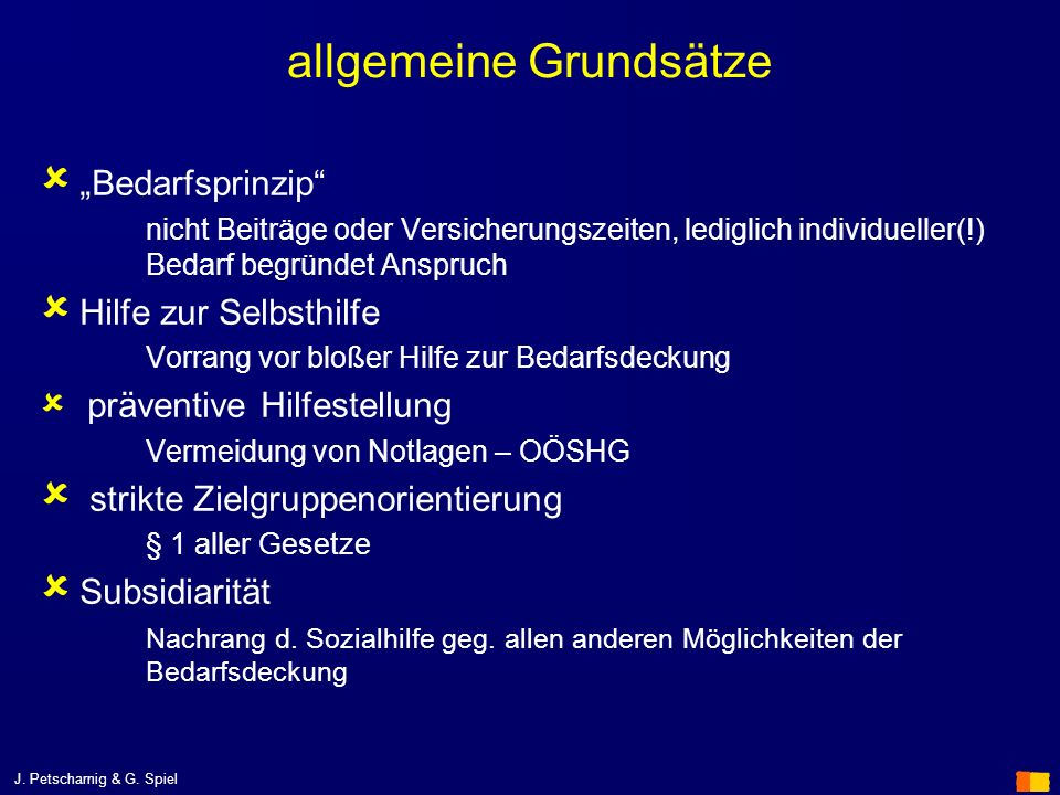 allgemeine Grundsätze