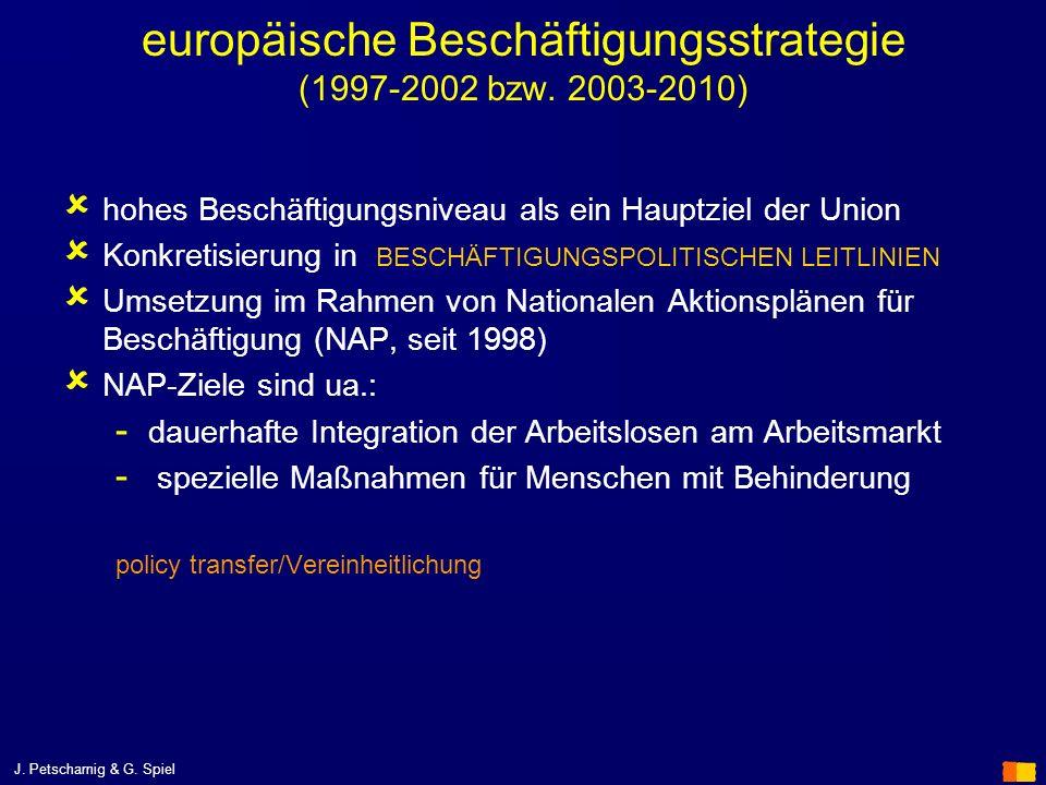 europäische Beschäftigungsstrategie (1997-2002 bzw. 2003-2010)
