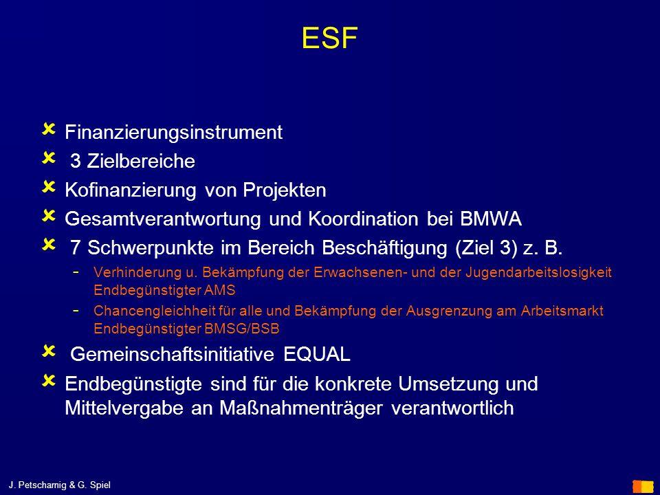 ESF Finanzierungsinstrument 3 Zielbereiche