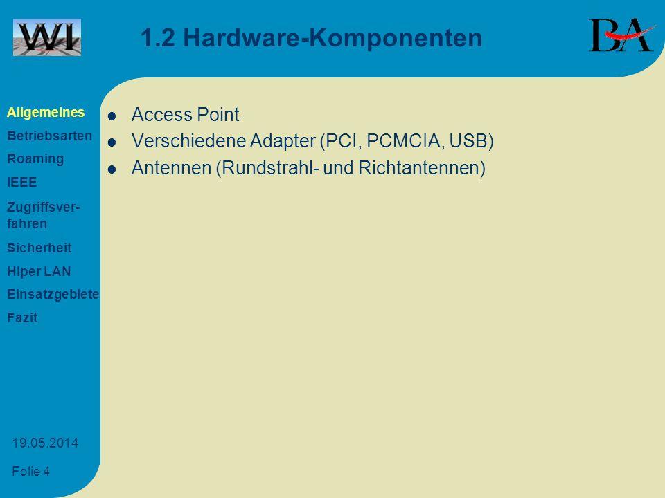 1.2 Hardware-Komponenten