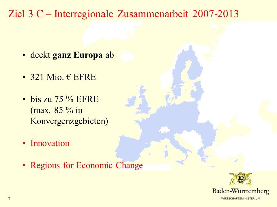 Ziel 3 C – Interregionale Zusammenarbeit 2007-2013