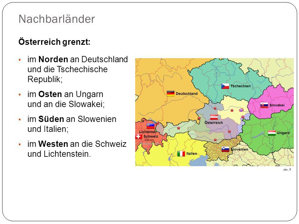 Nachbarländer Österreich grenzt: