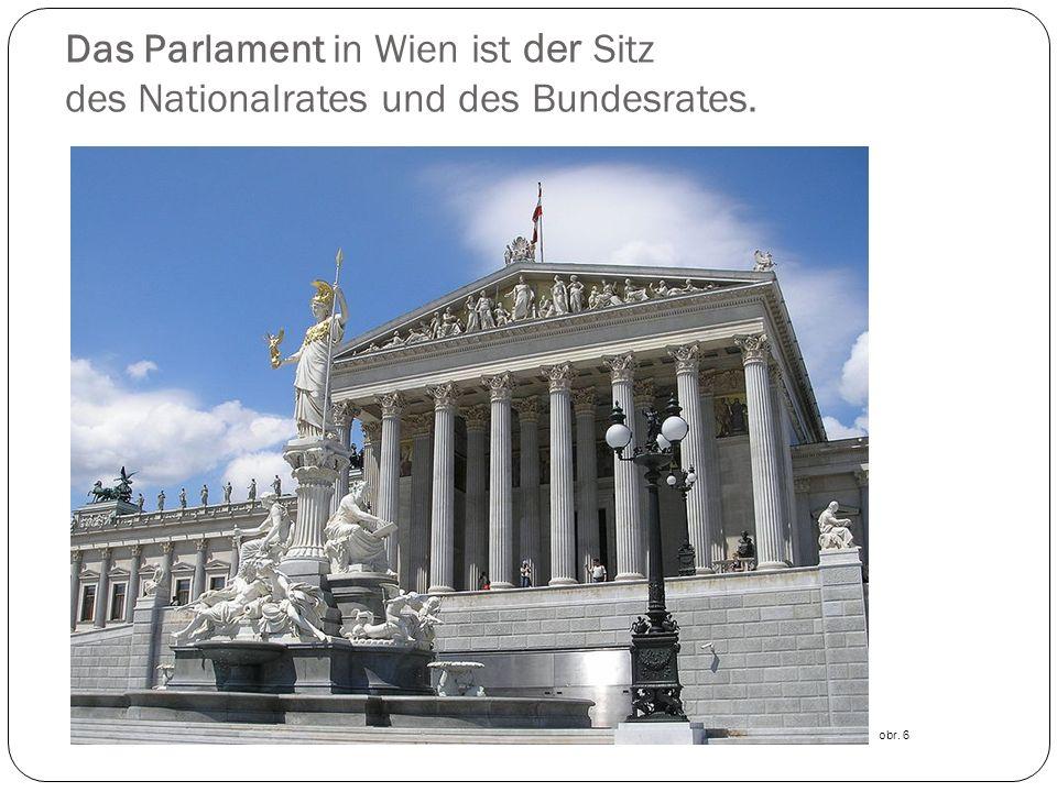 Das Parlament in Wien ist der Sitz des Nationalrates und des Bundesrates.