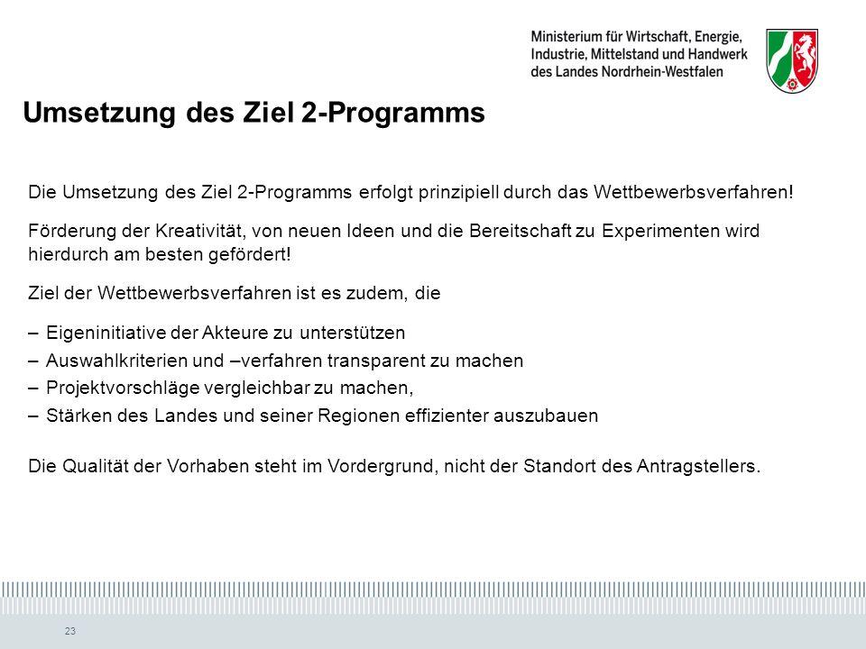Umsetzung des Ziel 2-Programms