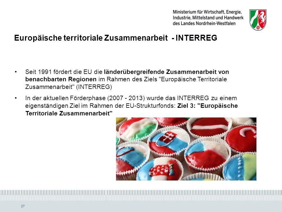 Europäische territoriale Zusammenarbeit - INTERREG