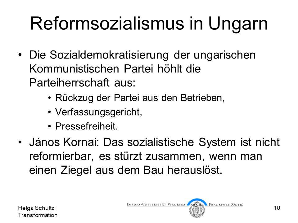 Reformsozialismus in Ungarn