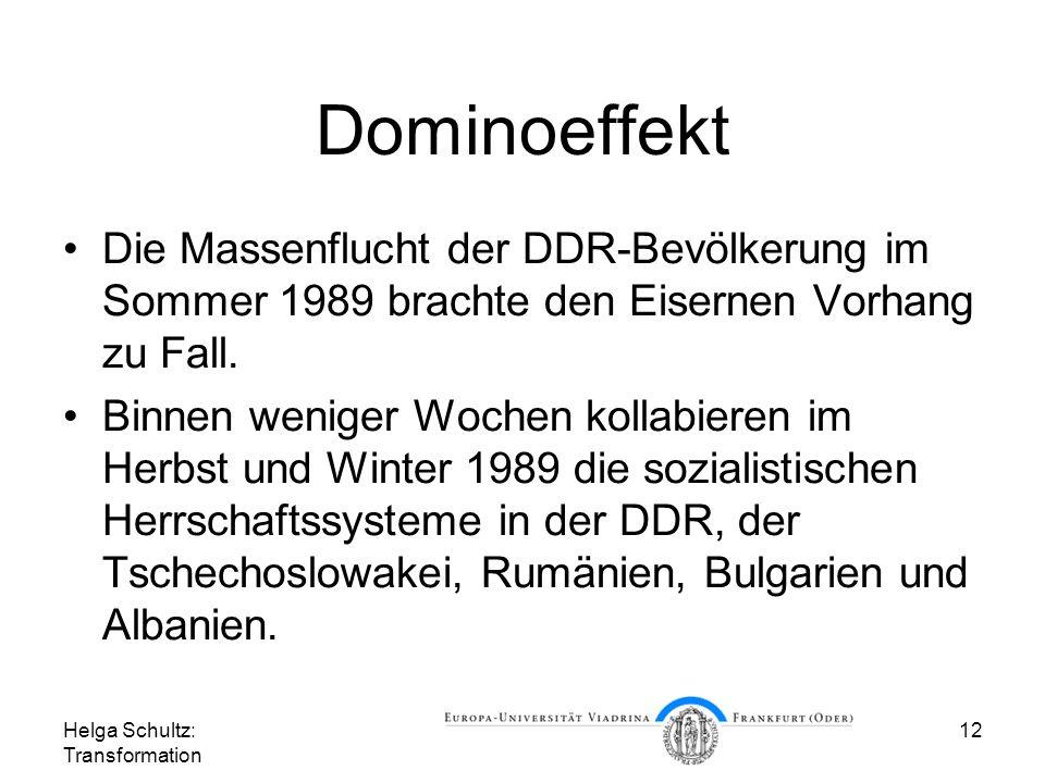 Dominoeffekt Die Massenflucht der DDR-Bevölkerung im Sommer 1989 brachte den Eisernen Vorhang zu Fall.