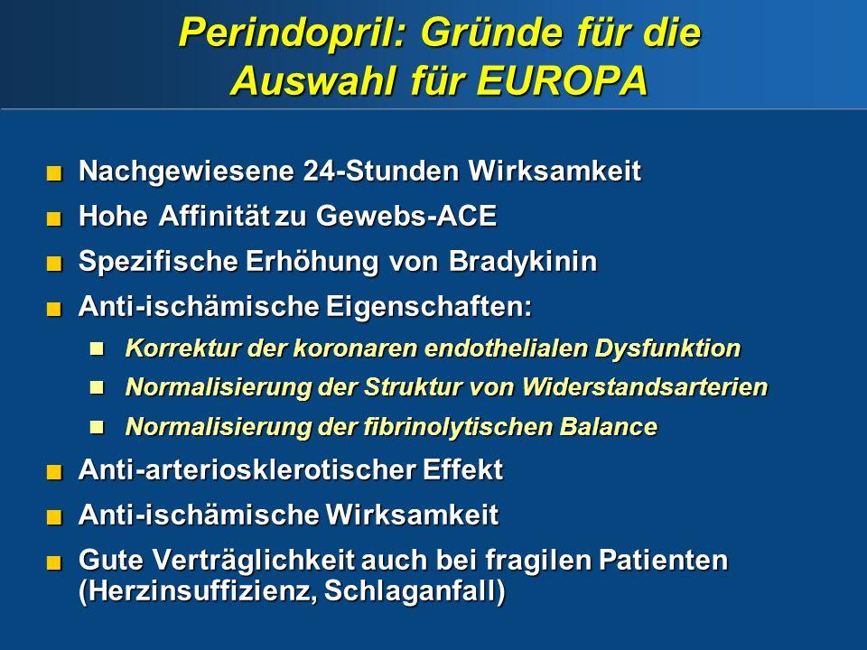 Perindopril: Gründe für die Auswahl für EUROPA