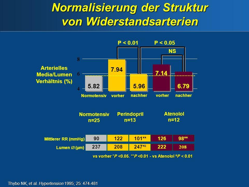 Normalisierung der Struktur von Widerstandsarterien