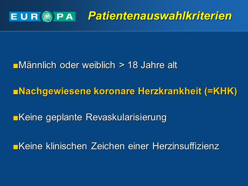 Patientenauswahlkriterien