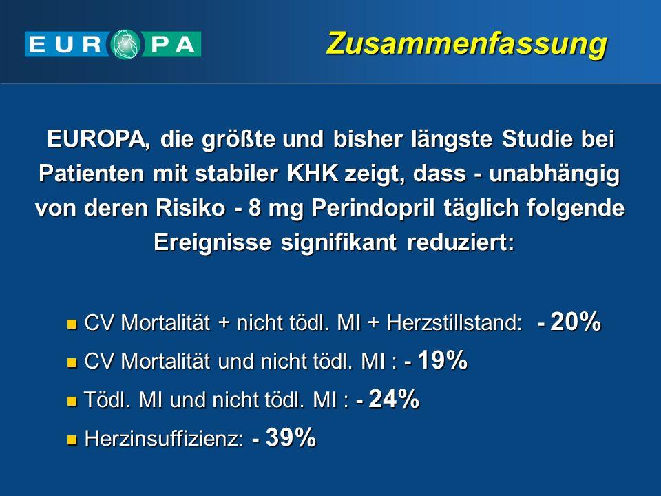 Zusammenfassung EUROPA, die größte und bisher längste Studie bei