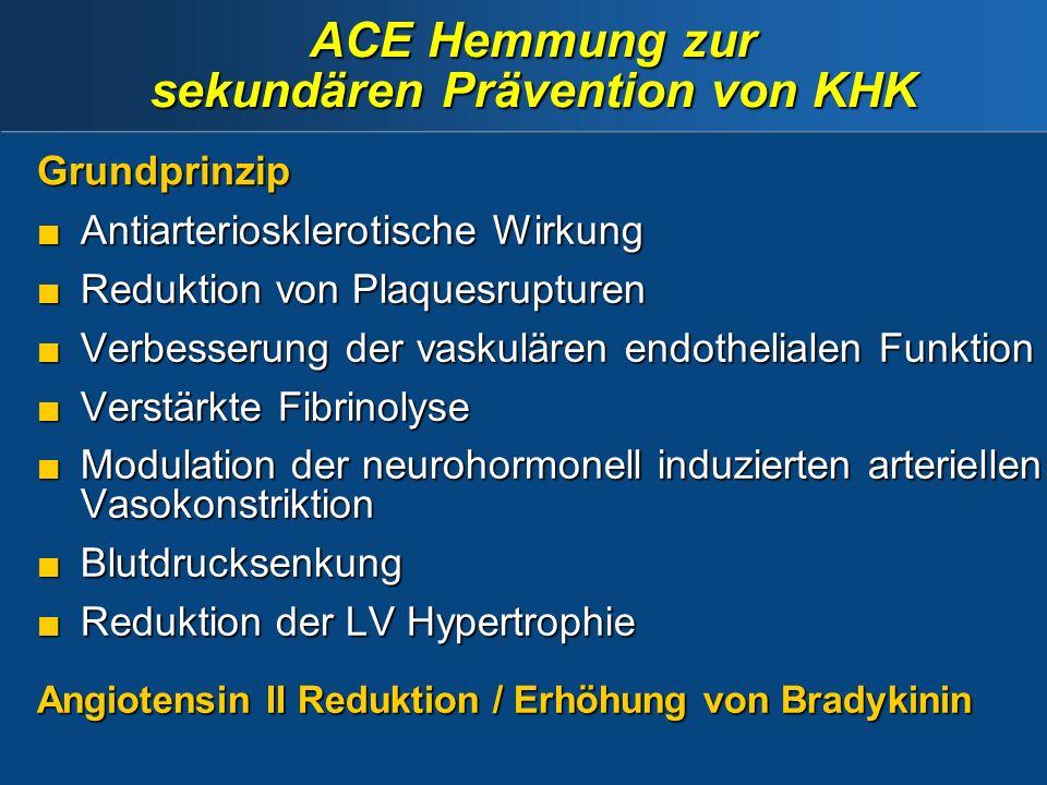 ACE Hemmung zur sekundären Prävention von KHK