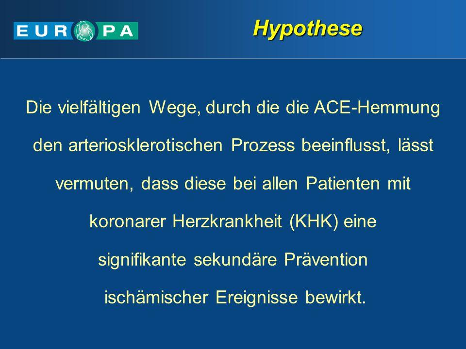 Hypothese Die vielfältigen Wege, durch die die ACE-Hemmung