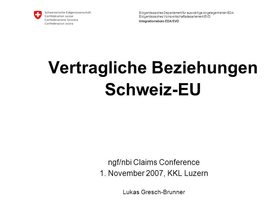 Bilaterale Abkommen Schweiz – EU