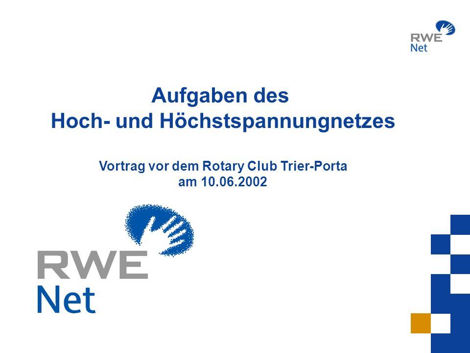 Hoch- und Höchstspannungnetzes Vortrag vor dem Rotary Club Trier-Porta