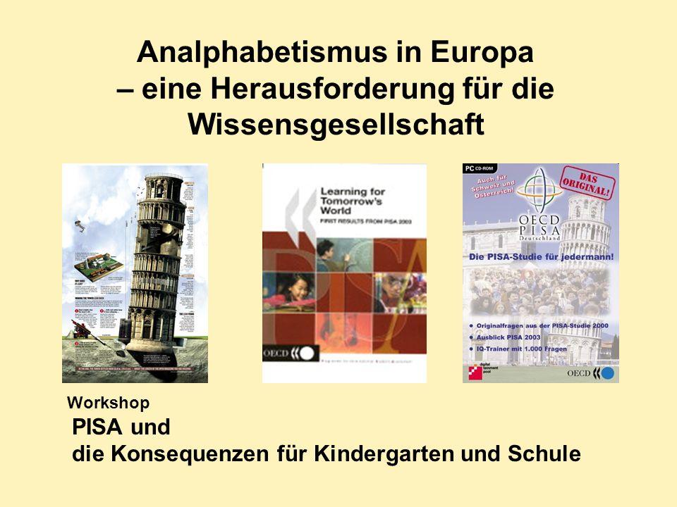 Analphabetismus in Europa – eine Herausforderung für die Wissensgesellschaft