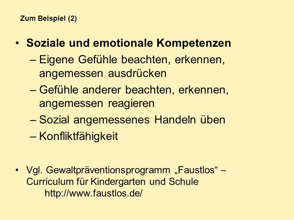 Soziale und emotionale Kompetenzen