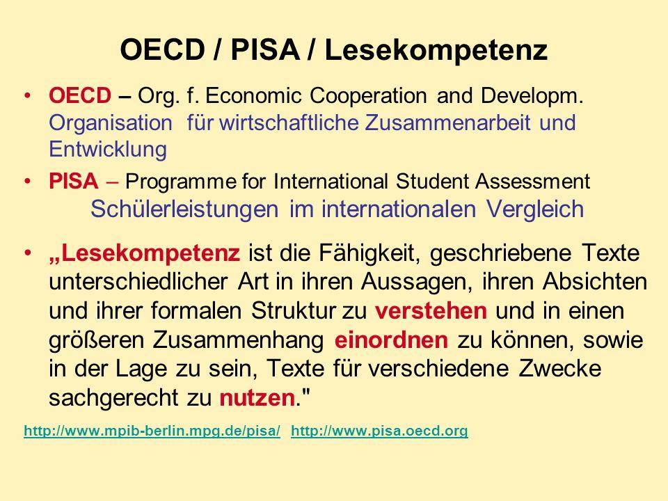 OECD / PISA / Lesekompetenz