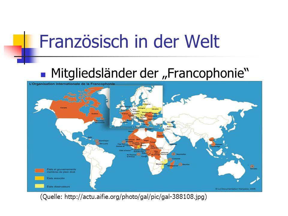 Französisch in der Welt
