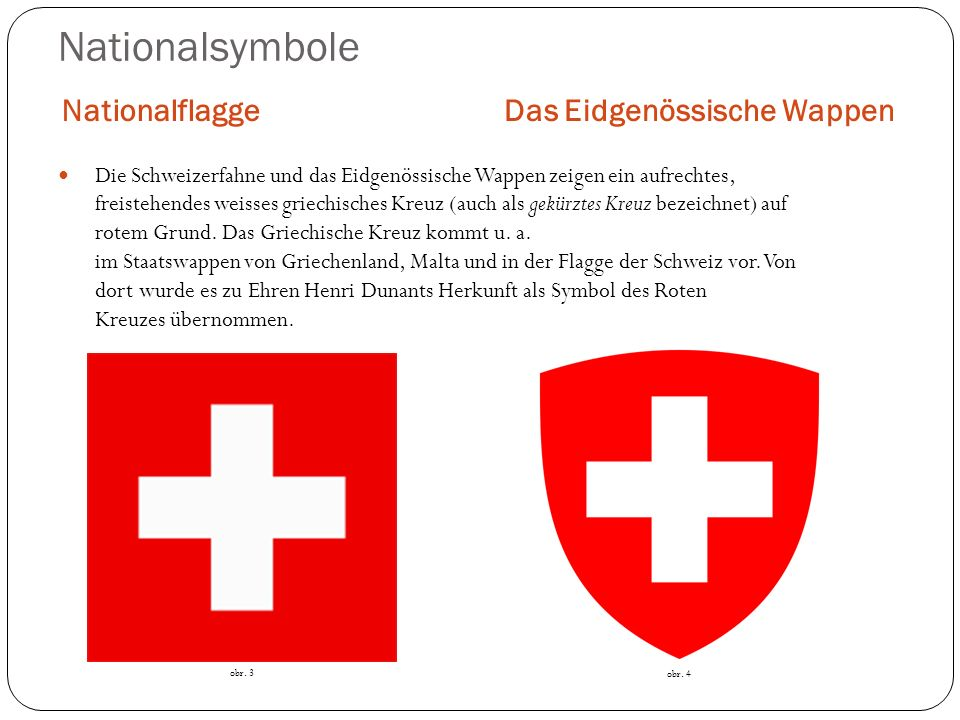 Nationalsymbole Nationalflagge Das Eidgenössische Wappen