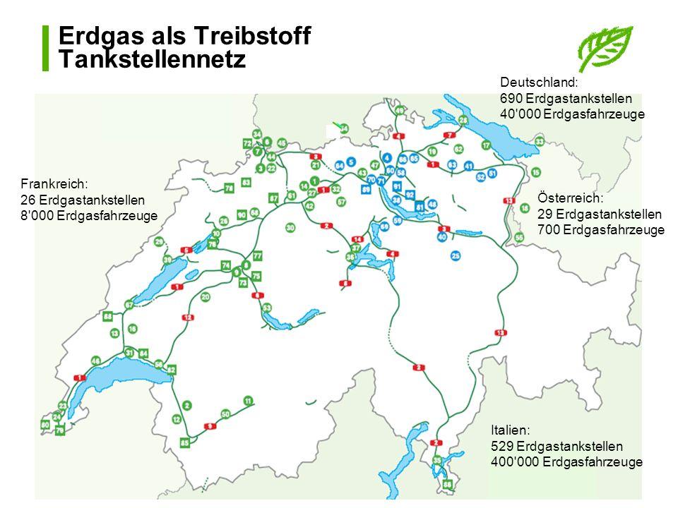 Erdgas als Treibstoff Tankstellennetz