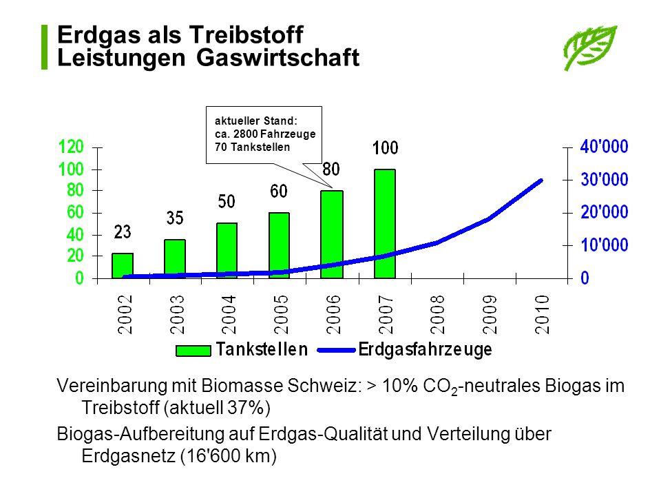 Erdgas als Treibstoff Leistungen Gaswirtschaft
