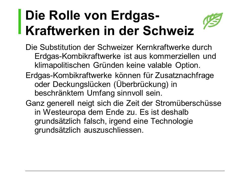 Die Rolle von Erdgas-Kraftwerken in der Schweiz