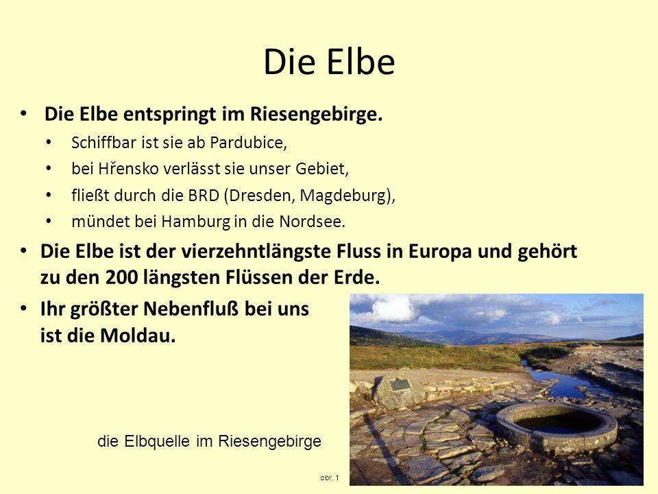 Die Elbe Die Elbe entspringt im Riesengebirge.
