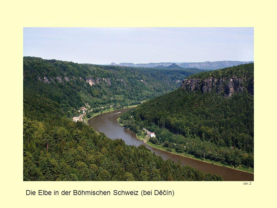 Die Elbe in der Böhmischen Schweiz (bei Děčín)