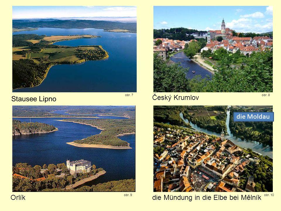 die Mündung in die Elbe bei Mělník
