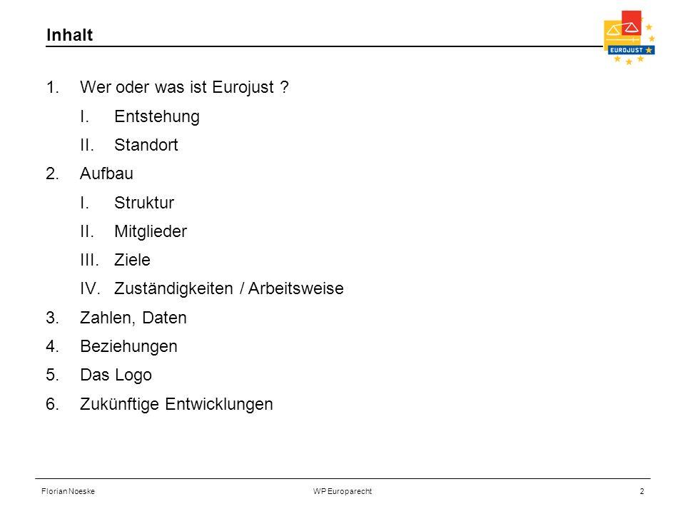 Wer oder was ist Eurojust Entstehung Standort Aufbau Struktur