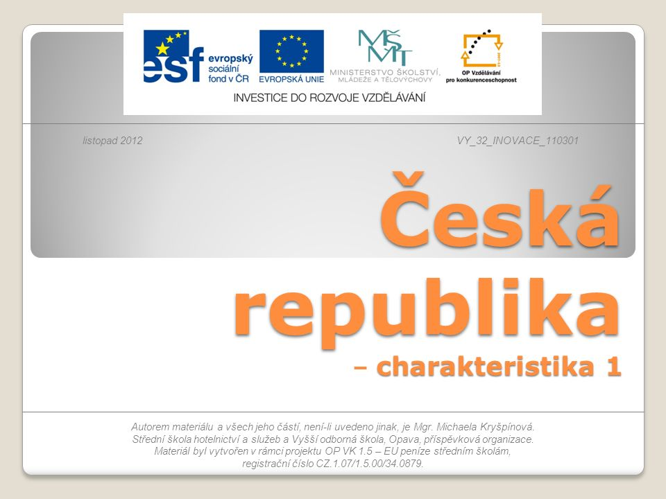 Česká republika – charakteristika 1